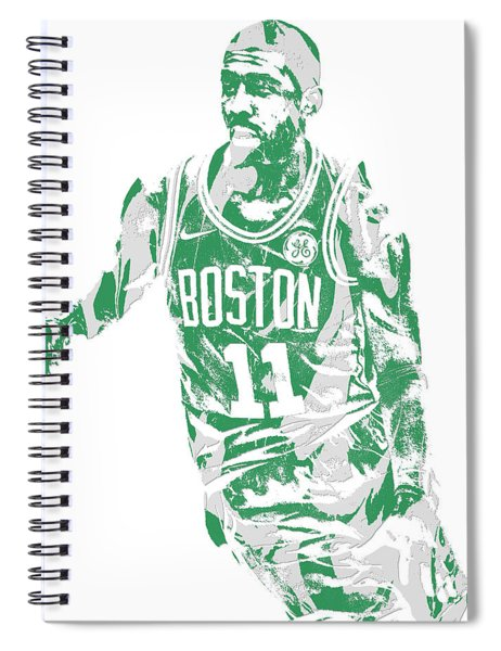 Kyrie Irving Boston Celtics Pixel Art 6 Spiral Notebook