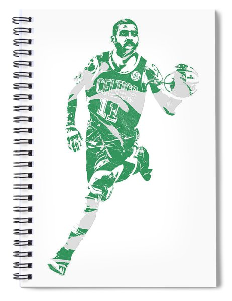 Kyrie Irving Boston Celtics Pixel Art 60 Spiral Notebook
