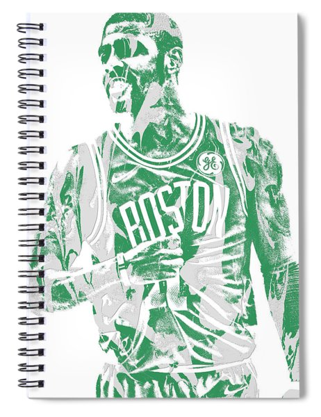 Kyrie Irving Boston Celtics Pixel Art 7 Spiral Notebook