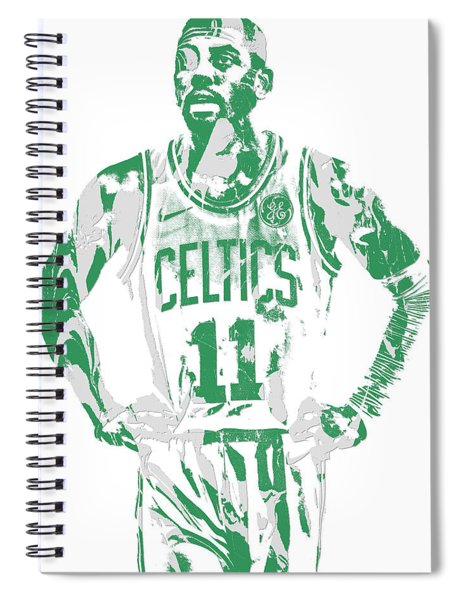 Kyrie Irving Boston Celtics Pixel Art 8 Spiral Notebook