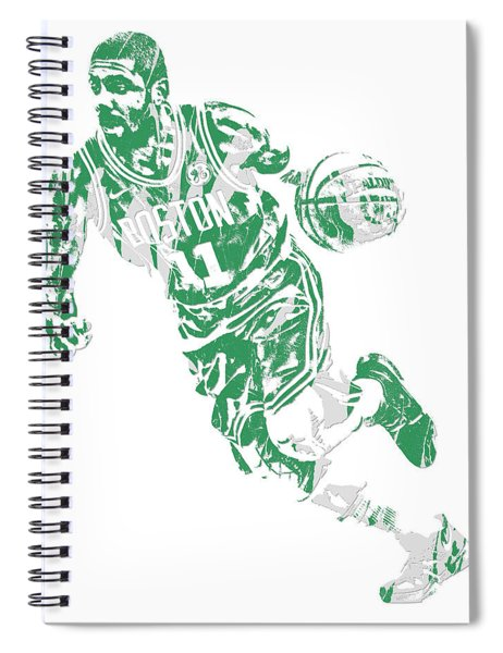 Kyrie Irving Boston Celtics Pixel Art 9 Spiral Notebook