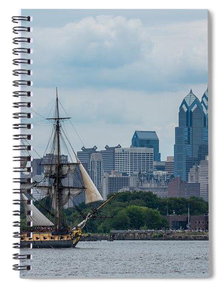 L Hermione Philadelphia Skyline Spiral Notebook
