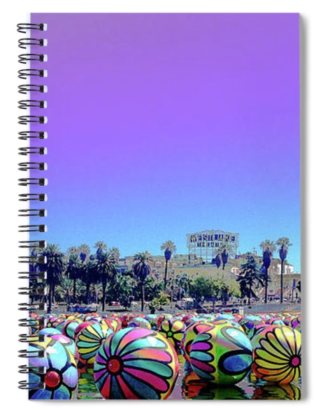 Los Angeles Glows In The Spheres Of Macarthur Park Spiral Notebook by Lorraine Devon Wilke