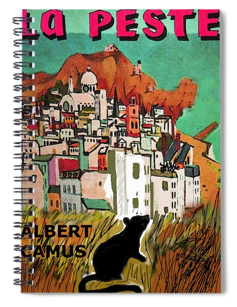 La Peste  Albert Camus Poster Spiral Notebook