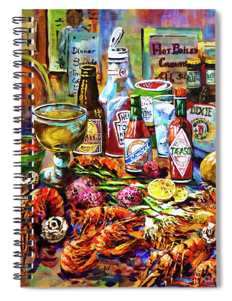 La Table De Fruits De Mer Spiral Notebook