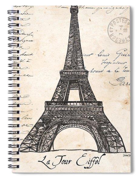 La Tour Eiffel Spiral Notebook