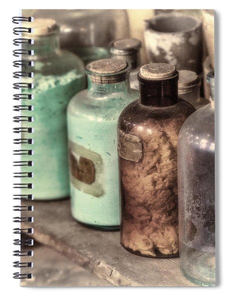 Lab Bottles Tinted Spiral Notebook