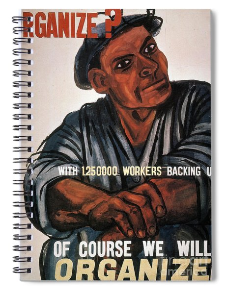 Labor Poster, 1930s Spiral Notebook