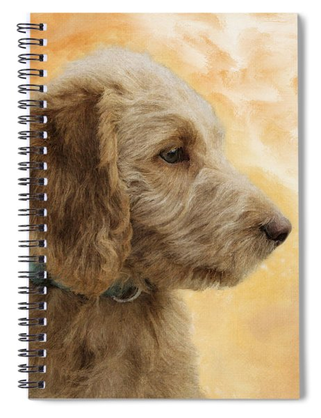 Labradoodle Puppy Spiral Notebook