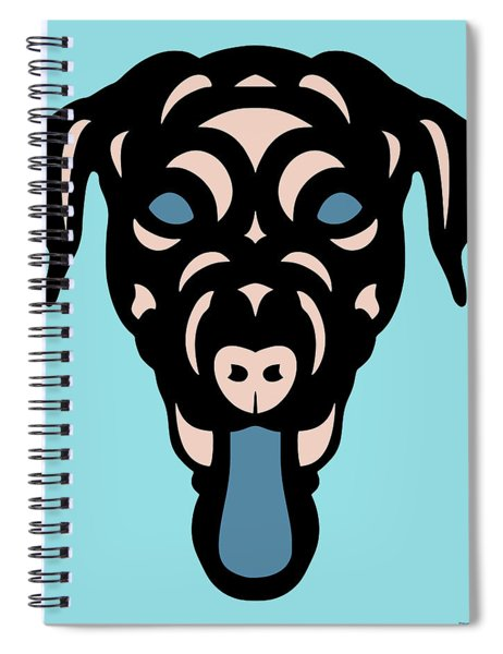 Spiral Notebook featuring the digital art Labrador Dorianna - Dog Design - Island Paradise, Pale Dogwood,  Niagara Blue by Manuel Sueess