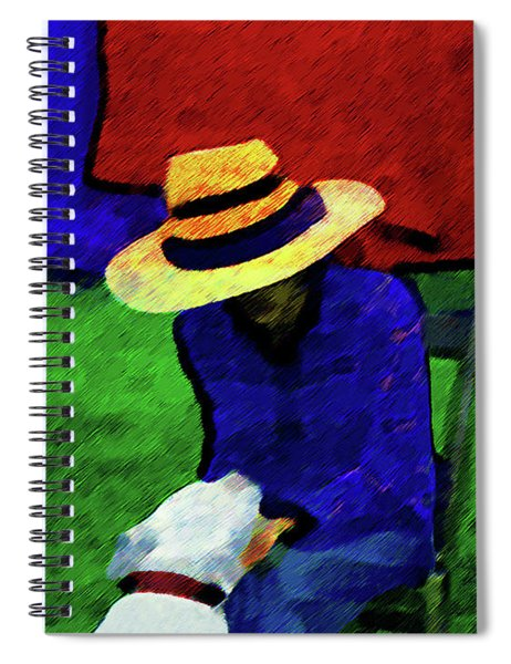 Lady And Puppy Painting Spiral Notebook