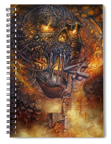 Lady And Skull Spiral Notebook