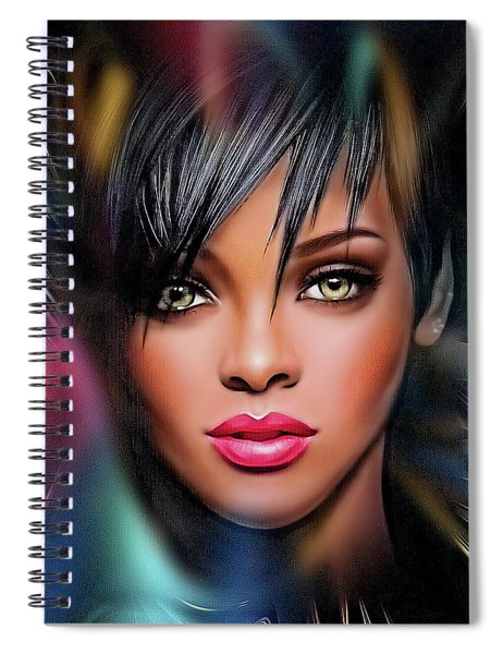 Lady Beautiful Spiral Notebook