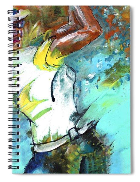 Lady Golf 01 Spiral Notebook