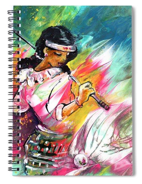 Lady Golf 02 Spiral Notebook
