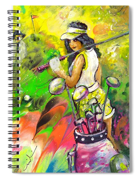 Lady Golf 05 Spiral Notebook