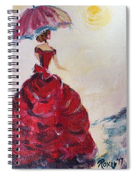 Lady In A Red Dress Spiral Notebook