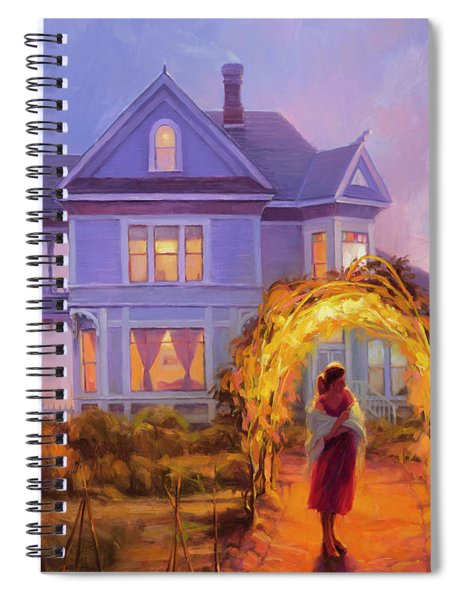 Lady In Waiting Spiral Notebook