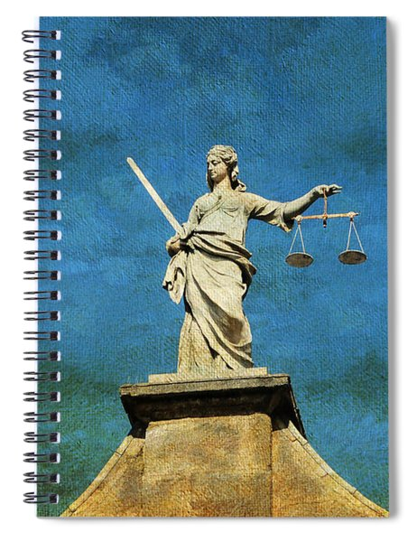 Lady Justice. Streets Of Dublin. Painting Collection Spiral Notebook
