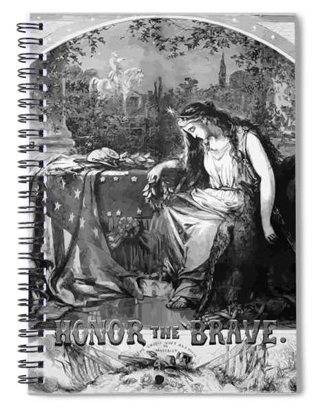 Lady Liberty Mourns During The Civil War Spiral Notebook