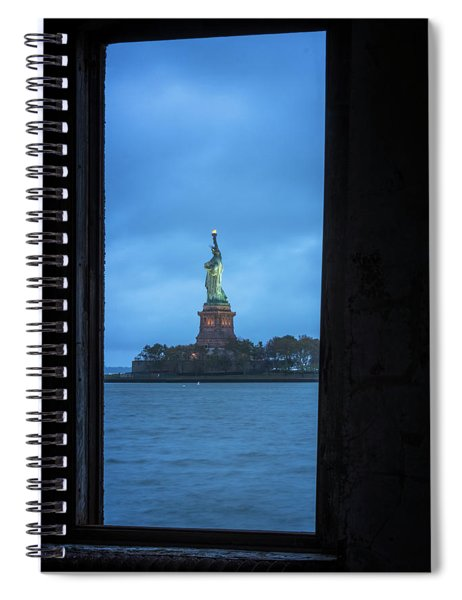 Lady Liberty View Spiral Notebook