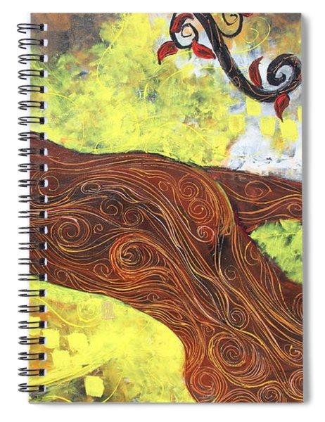 Lady Of Elation Spiral Notebook