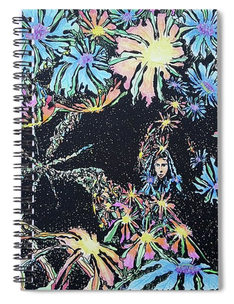 Lady Of The Stars Spiral Notebook