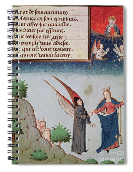 Lady Philosophy Leads Boethius In Flight Into The Sky On The Wings That She Has Given Him Spiral Notebook