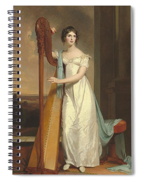 Lady With A Harp Spiral Notebook