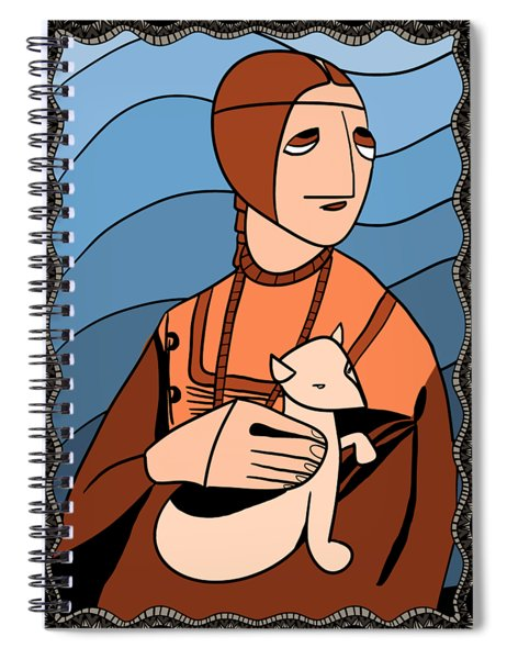 Lady With An Ermine By Piotr Spiral Notebook