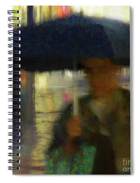 Lady With Umbrella Spiral Notebook