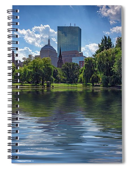 Lagoon In Boston Public Garden Spiral Notebook