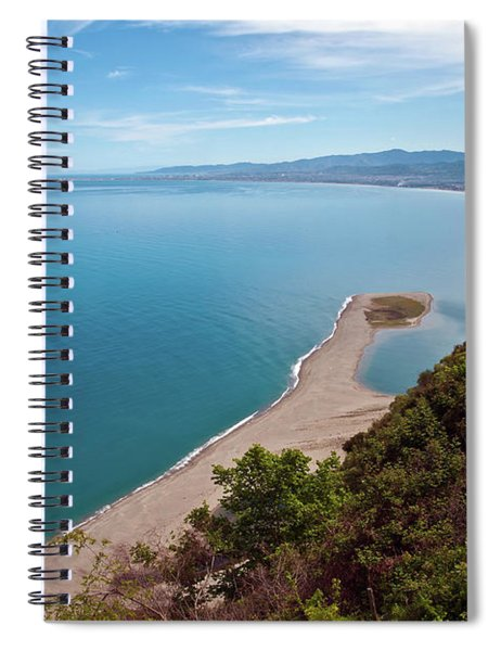 Lagoon Of Tindari On The Isle Of Sicily  Spiral Notebook