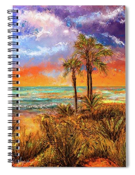 Laguna Beach At Sunset Spiral Notebook