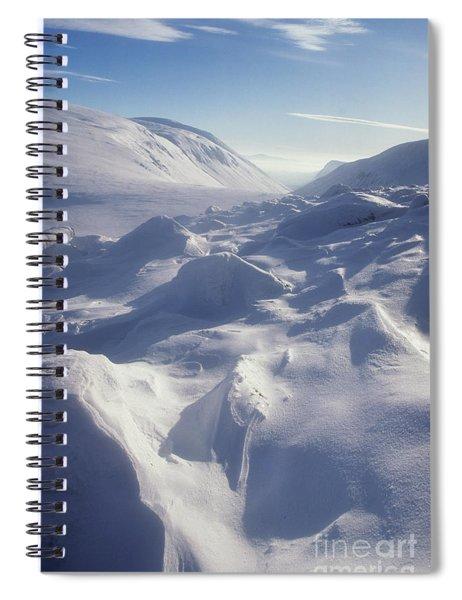Lairig Ghru In Winter - Cairngorm Mountains Spiral Notebook