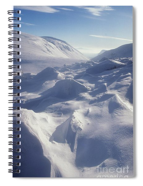 Lairig Ghru In Winter - Cairngorm Mountains Spiral Notebook