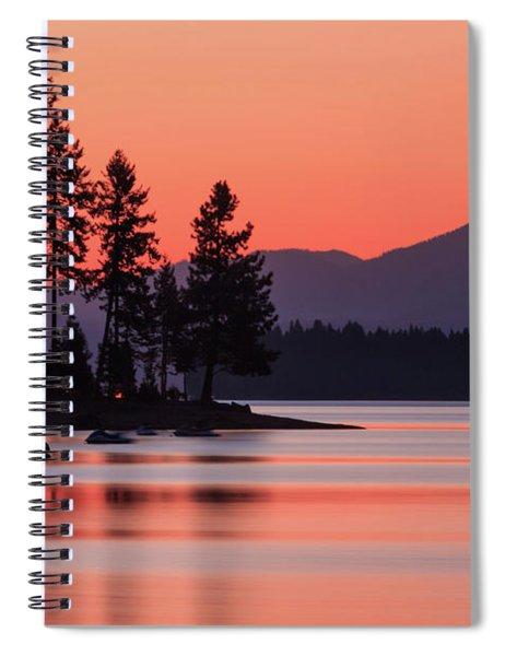 Lake Almanor Twilight Spiral Notebook