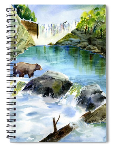 Lake Clementine Falls Bear Spiral Notebook