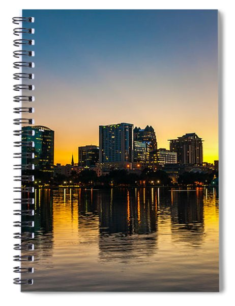 Lake Eola Sunset Spiral Notebook