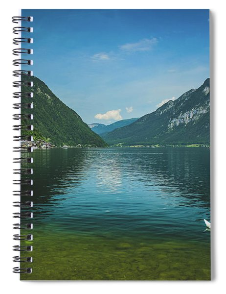 Lake Hallstatt Swans Spiral Notebook