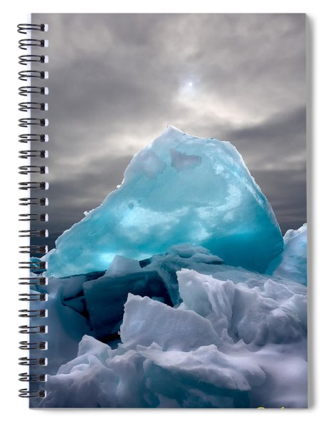 Lake Ice Berg Spiral Notebook