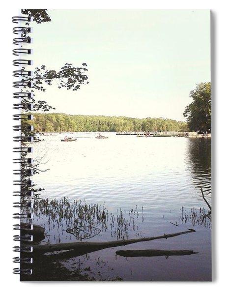 Lake At Burke Va Park Spiral Notebook