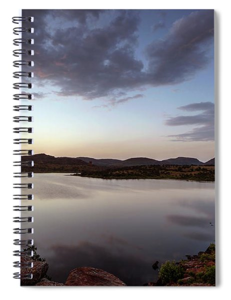 Lake In The Wichita Mountains  Spiral Notebook
