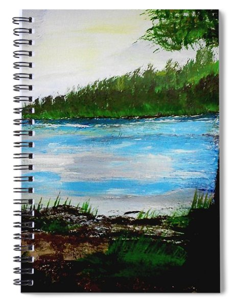 Lake In Virginia The Painting Spiral Notebook