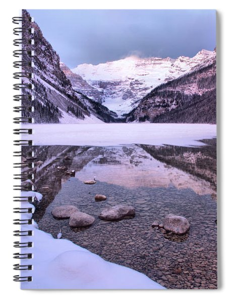 Lake Louise Snowy Reflections Spiral Notebook