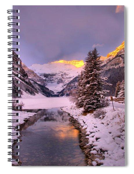 Lake Louise Sunrise Glow Spiral Notebook