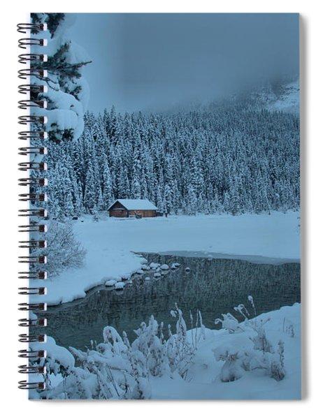 Lake Louise Winter Landscape Spiral Notebook