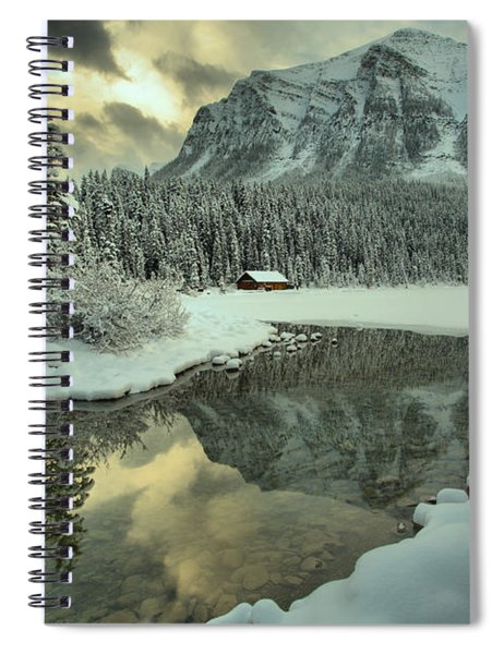 Lake Louise Winter Mountain Reflections Spiral Notebook