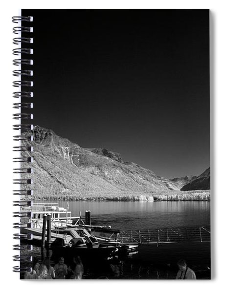 Lake Mcdonald Boat Dock 2 Spiral Notebook
