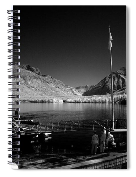 Lake Mcdonald Boat Dock Spiral Notebook